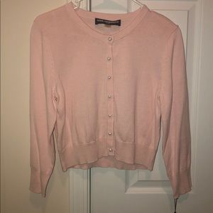 Pink with pearl buttons cardigan sweater